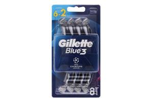 Станок для гоління чоловічий одноразовий Blue3 Gillette 8шт