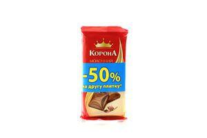 Шоколад молочный Корона 180г