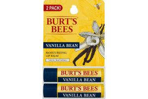 Burt's Bees Moisturizing Lip Balm Vanilla Bean - 2 PK