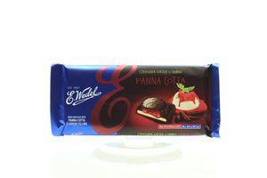 Шоколад E.Wedel темний з начинкою Панна Котта 100г х19