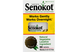 Senokot Regular Strength Laxative - 50 CT