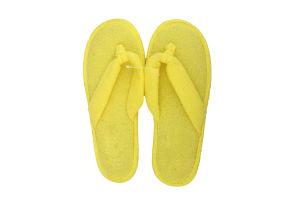 Тапочки-вьетнамки комнатные женские махровые Twins 40 желтые