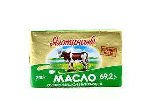 Масло 69,2% сладкосливочное бутербродное Яготинское фольга 200г