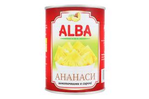 Ананаси шматочками в сиропі Alba Food з/б 580мл