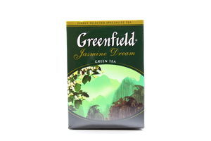 Чай зеленый листовой Jasmine Dream Greenfield к/у 100г