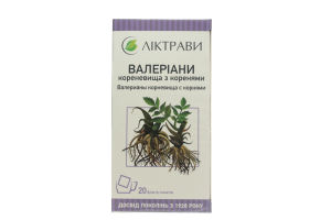 Валеріани кореневище 30 г (20 ф/п по 1,5 г)