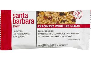 Santa Barbara Bar Cranberry White Chocolate