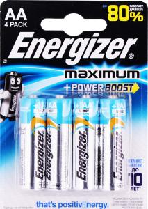 Батарейка щелочная Energizer Махіmum АА LR6
