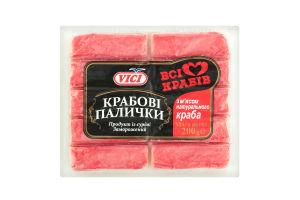Крабовые палочки с мясом натурального краба замороженные Vici в/у 200г