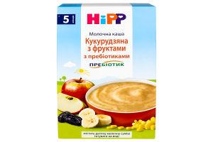 Каша для детей от 5мес молочная с пребиотиками Кукурузная с фруктами Hipp к/у 250г