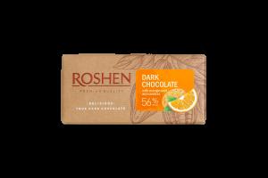 Шоколад 56% чорний з апельсиновою цедрою та печивом Roshen м/у 90г
