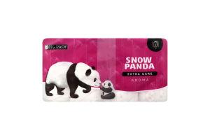 Бумага туалетная 4 слоя Extra care Aroma Snow panda 16шт