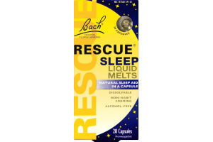 Bach Rescue Sleep Liquid Melts - 28 CT