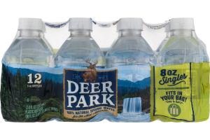 Deer Park Natural Spring Water Singles - 12 CT