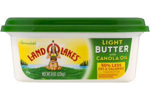 Land O'Lakes Spreadable Light Butter with Canola Oil