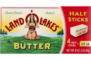 Land O'Lakes Butter Sweet Cream Salted Half Sticks - 4 CT