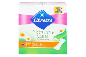 Прокладки ежедневные Normal Natural Care Libresse 40шт