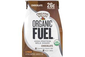Organic Valley Organic Fuel High Protein Milk Shake Chocolate - 4 PK