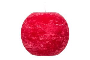 Свеча Candy Light шар темно-красн Во10/1-3.2