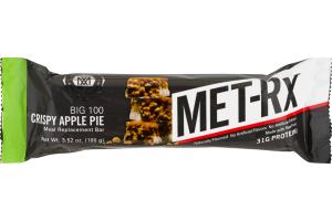 MET-RX Big 100 Meal Replacement Bar Crispy Apple Pie