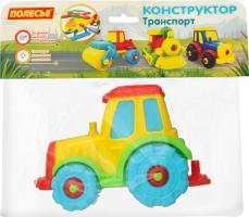 Конструктор-транспорт для детей от 3лет №77769 Трактор Полесье 1шт