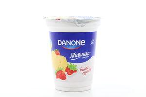Йогурт 1,5% Живинка Банан-земляника Danone 340г