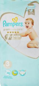 Підгузники трусики pants 6-11кг Premium Care Pampers 48шт