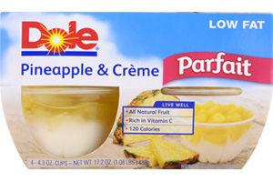 Dole Pineapple & Creme Low Fat Parfait