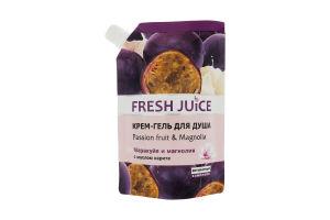 Крем-гель для душа Passion fruit&Magnolia Fresh Juice 200мл