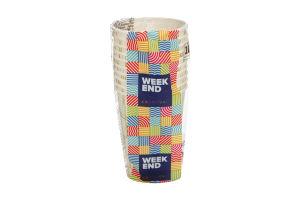 Стакан Week End паперовий 170-210мл 10шт