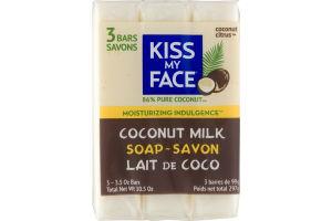 Kiss My Face Coconut Milk Soap - 3 PK