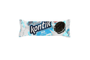 """Печенье-сэндвич """"Super Kontik"""" со вкусом молока 76г"""