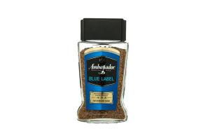 Кофе натуральный растворимый сублимированный Blue Label Ambassador с/б 95г