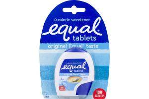Equal 0 Calorie Sweetener Tablets Original