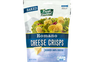 Fresh Gourmet Romano Cheese Crisps Baked