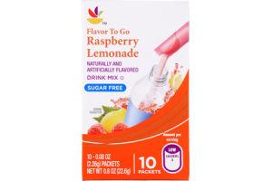 Ahold Raspberry Lemonade Sugar Free Drink Mix - 10 CT