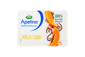 Крем-сыр 46% с папайей и карри Аrla п/у 125г