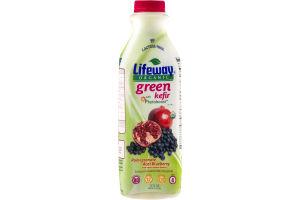 Lifeway Organic Green Kefir Pomegranate Acai Blueberry Cultured Lowfat Milk Smoothie