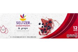 Ahold Seltzer Watermelon & Grape - 12 PK