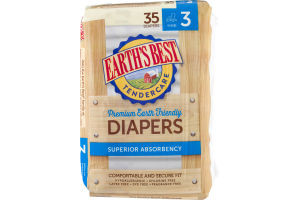 Earth's Best TenderCare Diapers Size 3 - 35 CT
