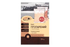 Рис пропаренный с семенами льна Август к/у 350г