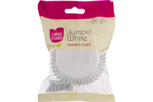 Cake Mate Baking Cups Jumbo White - 25 CT