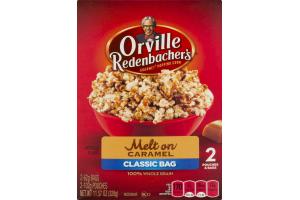Orville Redenbacher's Microwave Popcorn Classic Bag Melt On Caramel - 2 CT