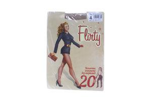 Колготки женские элегантные без шортиков Flirty 20den 4 бежевые