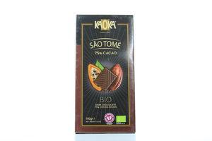 Шоколад Kaoka чорний 75%какао органічний 100г