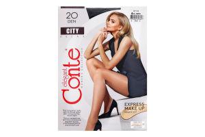 Колготки жіночі Conte City №8С-39СПС 20den 4-L nero