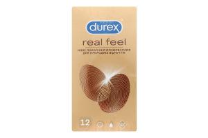 Презервативы латексные с силиконовой смазкой Real Feel Durex 12шт