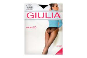 Колготки жіночі Giulia Classic collection Bikini 20den 5-XL nero