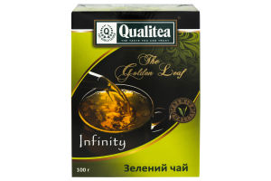 Чай зеленый листовой Infinity Qualitea к/у 100г
