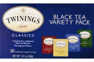 Twinings of London Classics Black Tea Variety Pack - 20 CT